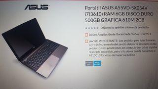 Ordenador Asus A55VD Intel I7 450Gb SSD, 16Gb RAM