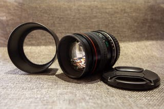 Objetivo Neewer 85mm f:1.8 montura Canon EF