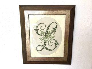 Letra L artesanía hecha a mano