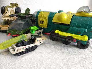 Lote vehículos 5 Gi Joe