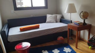 Sofá cama con arcón elevable 105x200 con colchón