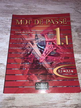 Libro de francés Mot de Passé, 1 Bachillerato