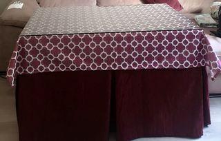 Mesa de camilla+falda