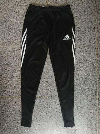 Pantalon Adidas negro rayas blancas