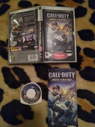 Juego call of duty roads to victory psp