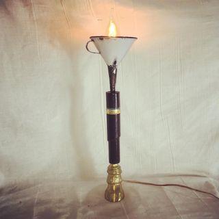 Lámpara purera de cuero Cohiba