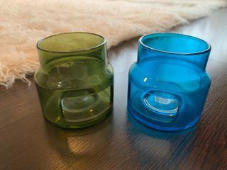 Portavelas de cristal de Ikea