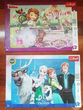Puzzles de la Princesa Sofía y de Frozen