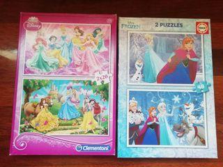 Puzzles de las Princesas y de Frozen