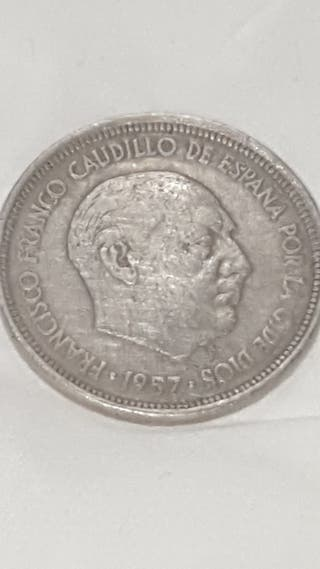 monedas antigua Franco 1957