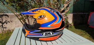 Casco moto cross integral, marca DIAMLOND