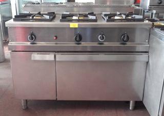 Cocina 3 fuegos + horno hosteleria