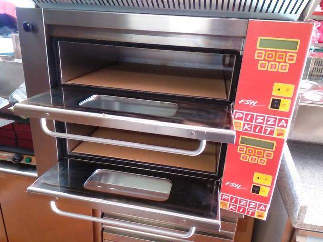 Horno doble de pizza profesional hosteleria