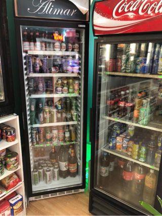 Nevera de bebidas 1 puerta de cristal hosteleria