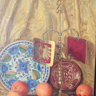 Óleo sobre lienzo Bodegón E. Vicente Paricio