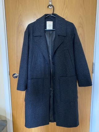 Classic England style wool blend coat