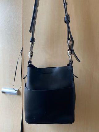 Allsaints black crossbody bag