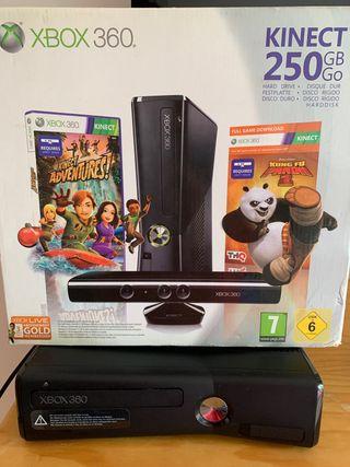 Xbox 360 con kinect más 20 juegos
