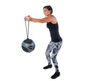 Balón medicinal con cuerda 6 kg gris Musculacion