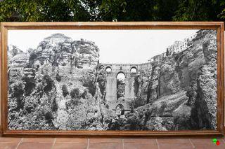 Fotografía antigua Tajo de Ronda, Puente Nuevo.