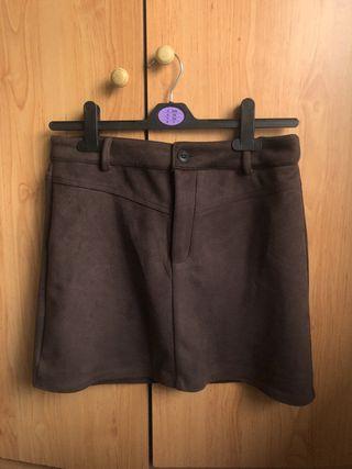 Falda de pana pull&bear