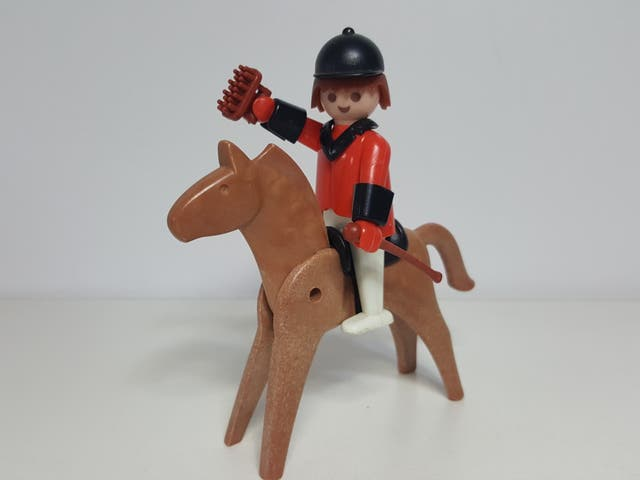 Antiguo Jinete Playmobil 3326 Equitacion Arte