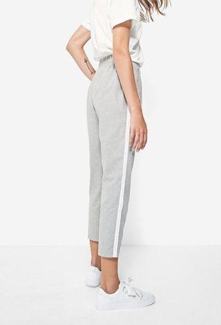 Pantalon vestir con banda lateral Zara xs