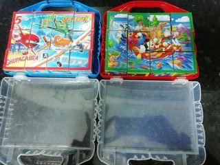 Puzzles de cubos Mickey Mouse y Aviones