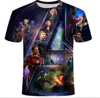 Avengers Camiseta Hombre Niño Moda 2020 Verano
