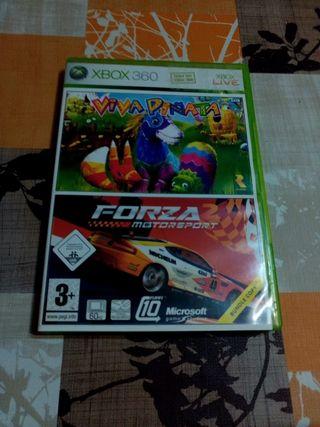 Forza 2 y Viva Piñata (2 juegos)xbox 360