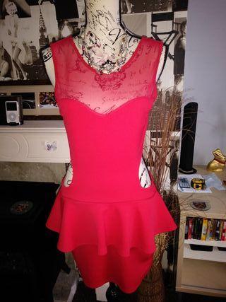 Sexy red lycra dress