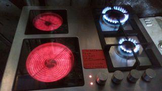 cocina encimera vitrocerámica de gas