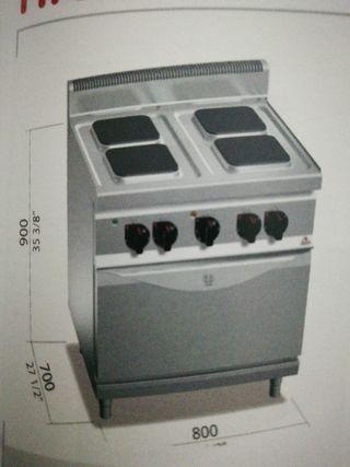 cocina 4 fuegos mas horno 60x40