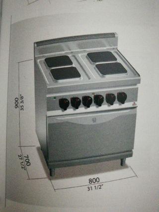 cocina 4 fuegos mas horno eléctrica multifuncion