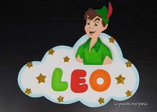 Cartel con nombre - Peter Pan