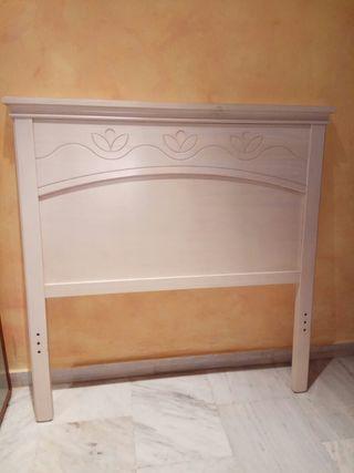2 cabeceros de 90 cm color blanco wengue.