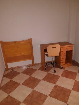 cabecero más silla más escritorio