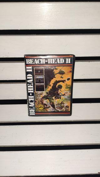 videojuego beach-head II commodore 64 128