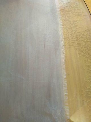 Retal de tela de cortina de organza cristal gris