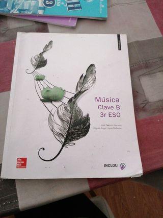 libro de música de 3 de la ESO.