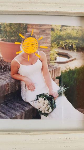 traje de novia y corona