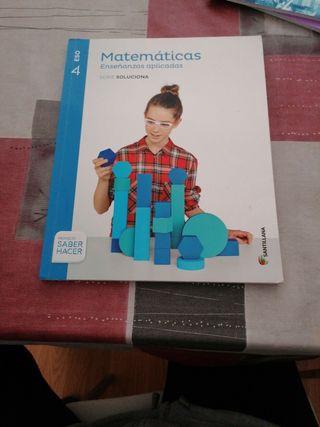 Libro de matemáticas de 4° de la ESO