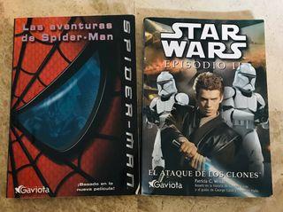Libro Spiderman y libro star wars.
