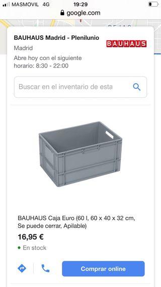 Caja apilable su precio 16,95€