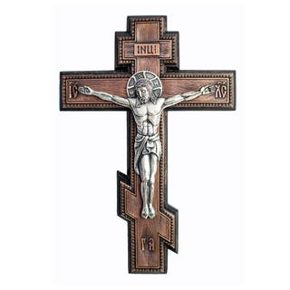 Wall Crucifix, size 31 x 21cm, silver plated