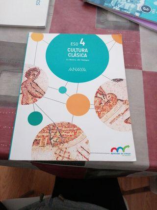 libro Cultura clásica 4° de la ESO