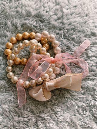 Set 3 pulseras de perlas