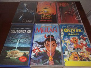 Lote Películas VHS cinta de vídeo