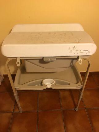 Bañera cambiador bebe 2 en 1 flip jane
