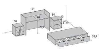 Habitación de cuna convertible rmb)